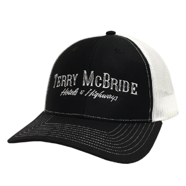 Terry McBride Black and White Ballcap
