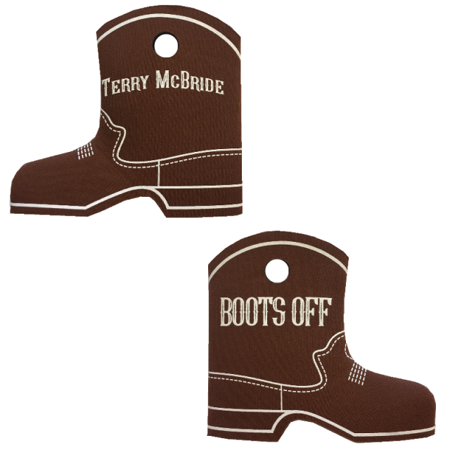 Terry McBride Brown Boot Coolie